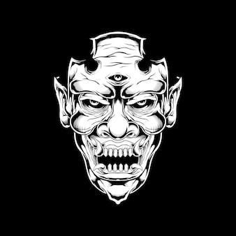 Demônio, monstro, desenho de mão satânica