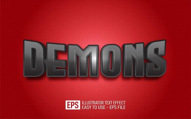 Demônios de texto criativo, modelo de efeito de estilo editável