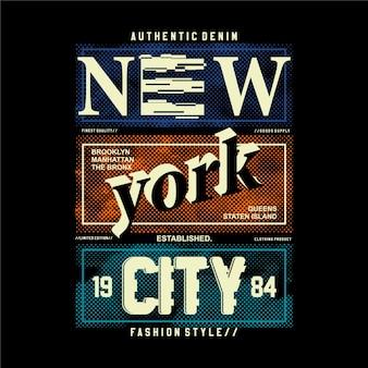 Denim autêntico da cidade de nova york
