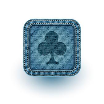 Denim poker. ilustração vetorial