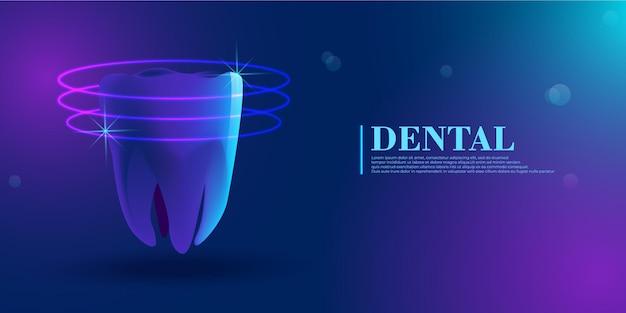 Dental healthy tooth ciência da saúde médica odontologia inovação tecnologia futura dentis saudável
