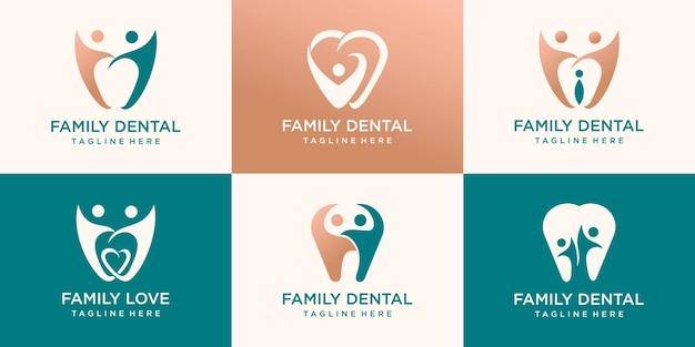Dental logo template design logo de luxo