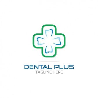Dental mais o logotipo com cruz