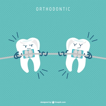 Dental suspensórios vetor dos desenhos animados