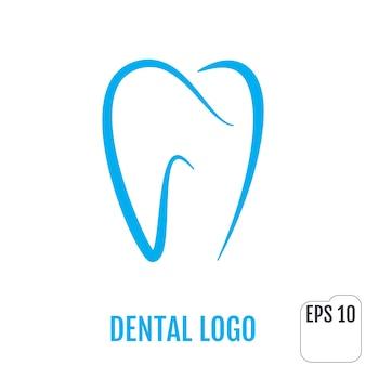 Dente de desenho de ícone de clínica odontológica logotipo dentário