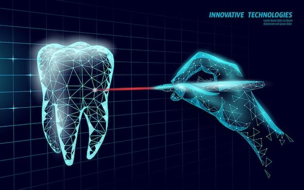Dente humano saudável médico 3d