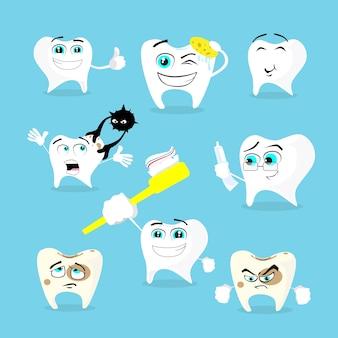 Dentes dental health care set colecção