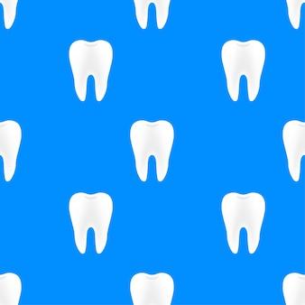 Dentista de padrão de dentes. dentes saudáveis. dentes humanos. ilustração em vetor das ações.
