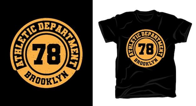 Departamento de atletismo setenta e oito tipografia design de t-shirt