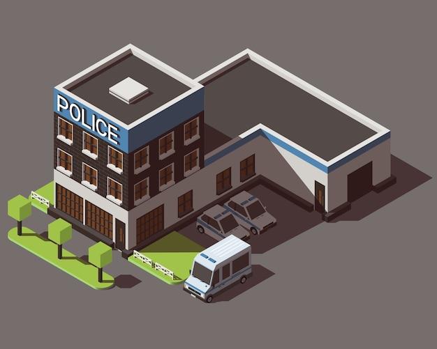 Departamento de polícia isométrica