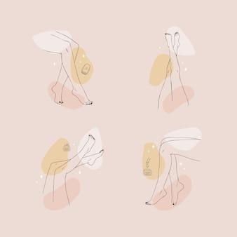 Depilação a laser e cosmetologia. procedimento de remoção de cabelo.