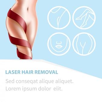 Depilação a laser procedimento de beleza corpo perfeito