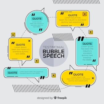 Depoimento em forma de bolha do discurso