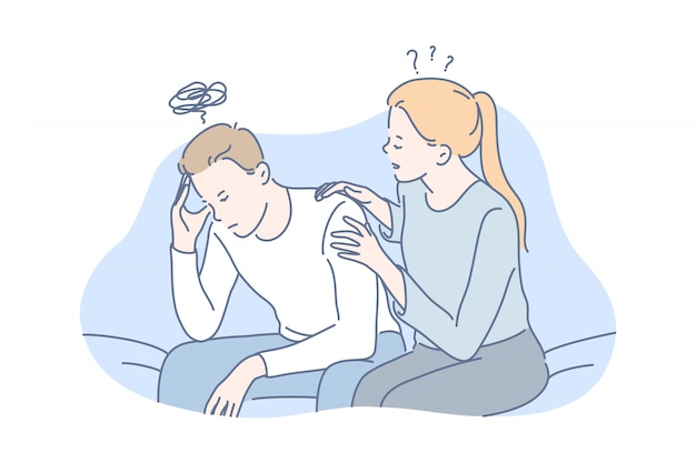 Depressão, frustração, conceito de apoio