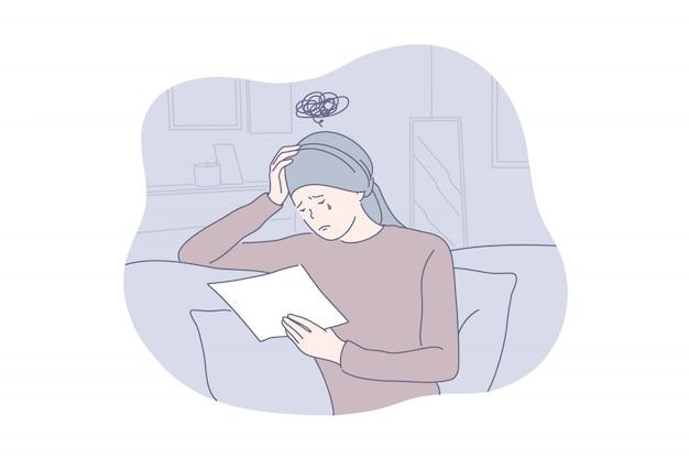 Depressão, frustração, conceito de mau diagnóstico