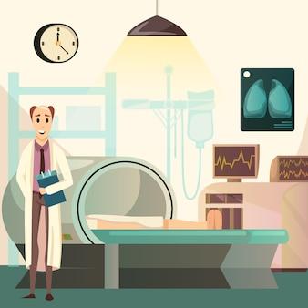 Derrote o câncer de ressonância magnética fundo ortogonal