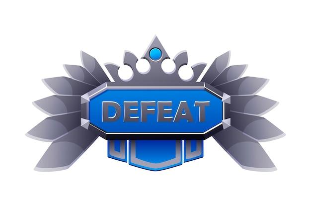 Derrote pop-up, recursos de banner com coroa para o jogo.