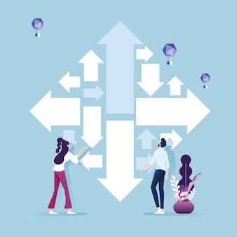 Desafio de negócios e conceito de maneira solução solução tarefa