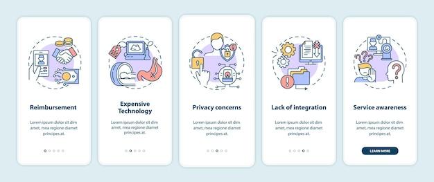Desafios da telemedicina ao integrar a tela da página do aplicativo móvel com conceitos