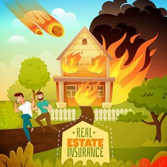 Desastre natural em uma casa