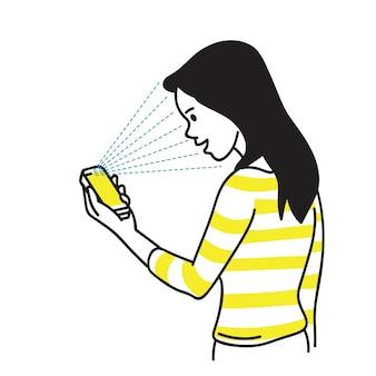 Desbloqueio de smartphone com digitalização de rosto