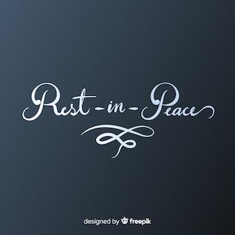 Descanse em letras de paz