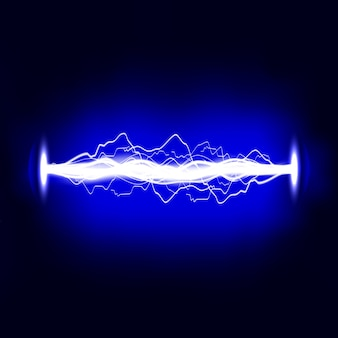 Descarga elétrica. relâmpago. efeito de luz.