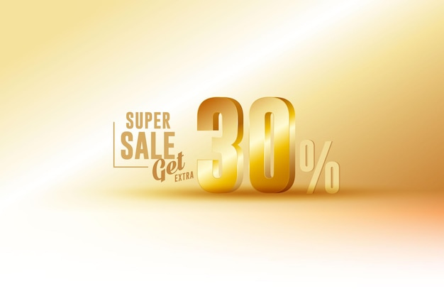 Desconto de banner de melhor venda 3d com 30% de desconto