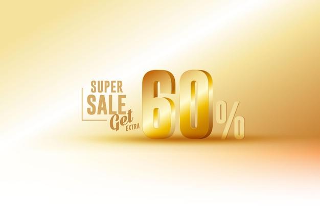 Desconto de banner de melhor venda 3d com 60% de desconto