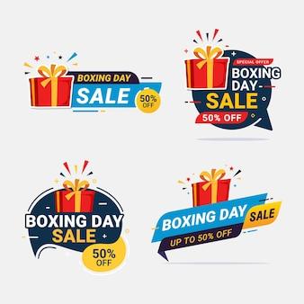 Desconto de banner de venda no boxing day