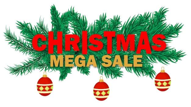 Desconto de feriado do banner de venda de natal