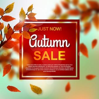 Desconto de venda de outono