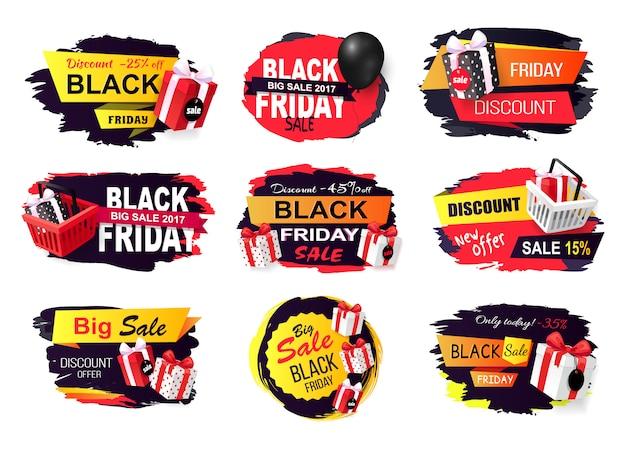 Desconto e oferta em black friday autumn holiday