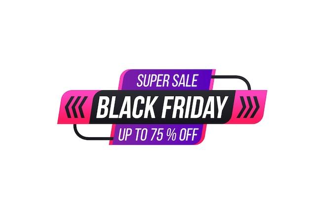 Desconto e oferta na etiqueta etiqueta de desconto de preto sexta-feira outono feriado cyber segunda-feira venda