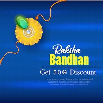 Desconto em banner raksha bandhan