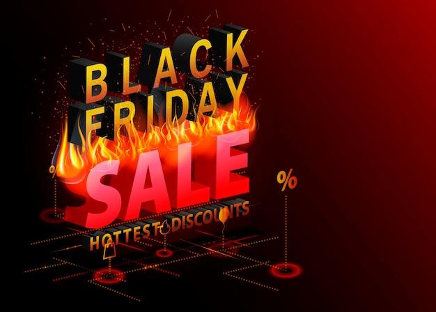 Desconto mais quente do banner da black friday sale
