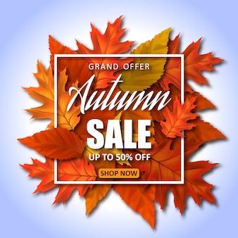 Desconto online de venda de outono