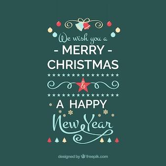 Desejamos-lhe um feliz natal e um feliz ano novo