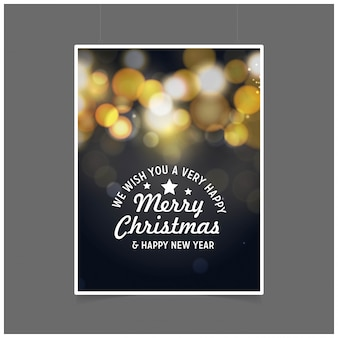 Desejamos-lhe um feliz natal muito feliz e feliz ano novo fundo preto brilhante pôster