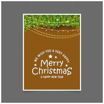 Desejamos-lhe um feliz natal muito feliz e feliz ano novo luzes de fundo