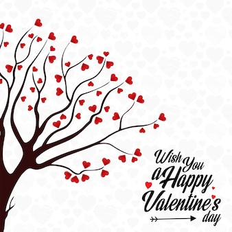 Desejo-lhe um feliz dia dos namorados árvore árvore do coração