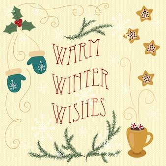 Desejos de inverno quente.