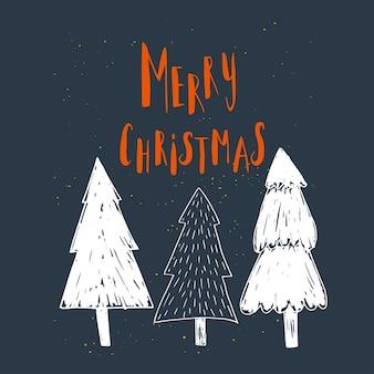Desejos de natal maravilhosos e únicos escritos à mão para cartões de natal