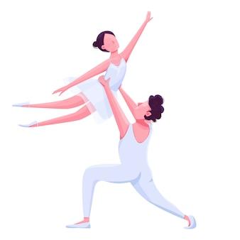 Desempenho de dançarinos de balé