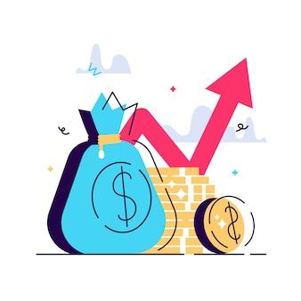 Desempenho financeiro, relatório estatístico, aumento da produtividade dos negócios, fundo mútuo