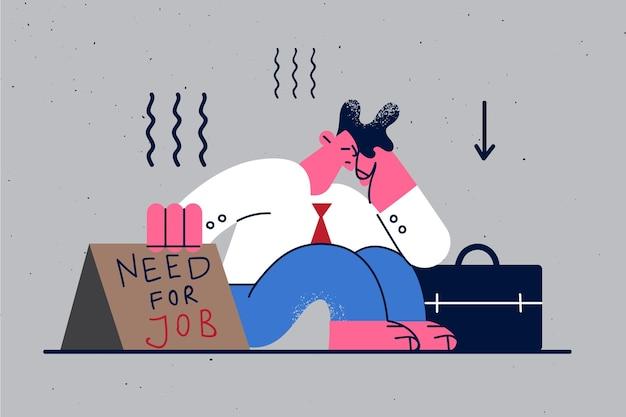 Desemprego à procura de trabalho pessoas desempregadas