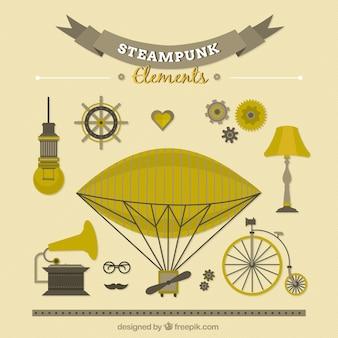 Desenhadas mão coisas steampunk