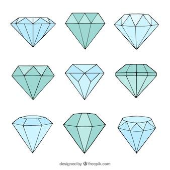 Desenhadas mão diamantes