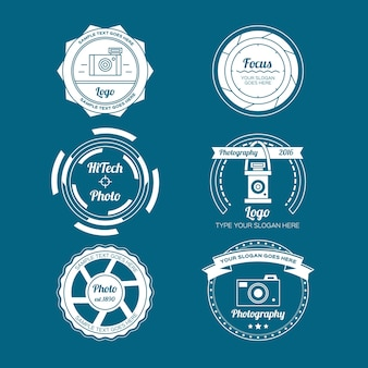 Desenhadas mão emblemas foto do vintage