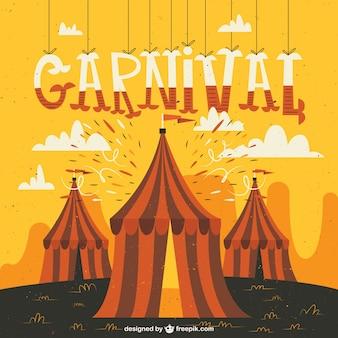 Desenhadas mão tendas de carnaval